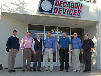 Apogee recently visited Decagon Devices. Pictured left to right: Mark Blonquist, Dr. Bruce Bugbee, Dr. Gaylon Campbell, Devin Overly, Skiffington Smith, Damon Nitzel, Chris Madsen.