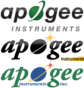Evolution of Apogee's Logo