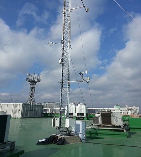 Weather station installed by B&P International for WISE project featuring Apogee SP-111 Infrared Radiometer