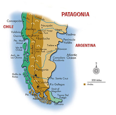 Map showing area of study (Andes region)