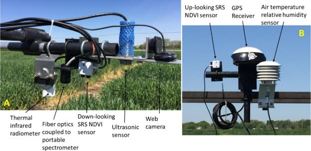 Field phenotyping system platform feature Apogee Instruments' infrared radiometer