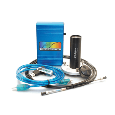 The lab spectroradiometer complete package includes a USB drive with required drivers and software.