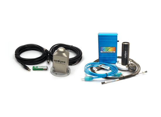Image of the two field spectroradiometer and lab spectroradiometer complete packages.