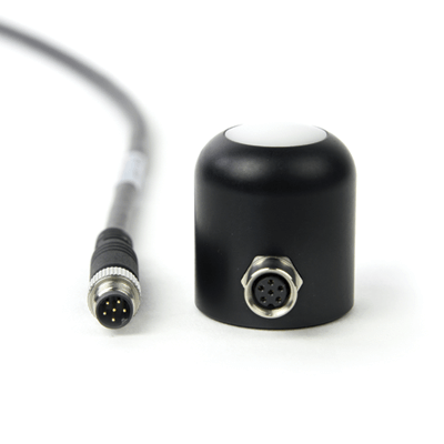An amplified PAR-FAR sensor with a built-in cable connector.