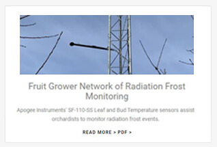 Apogee Instruments leaf and bud temperature sensor case studies.