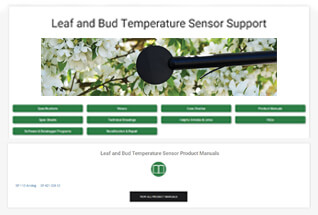 Product support information for leaf and bud temperature sensors.