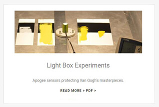 Apogee Instruments photometric sensor case studies.