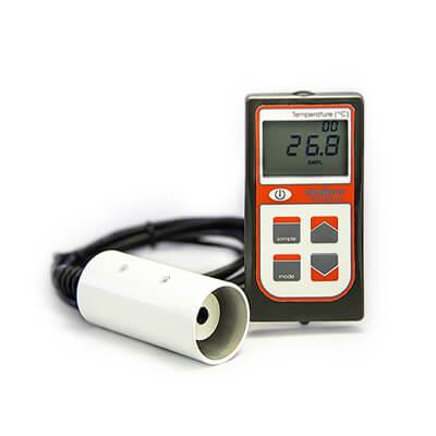 Image of an infrared radiometer handheld meter