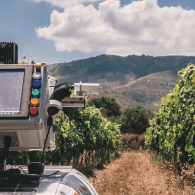 Image of an infrared radiometer used in robot vineyard monitoring