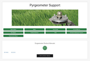 Product support information for pyrgeometers.