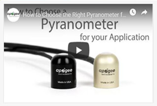 Watch videos to learn more about our thermopile pyranometers.