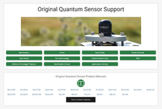 Product support information for original quantum sensors.
