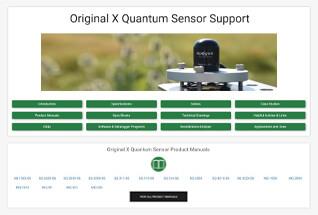 Product support information for original X quantum sensors.