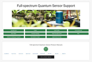 Product support information for full-spectrum quantum sensors.