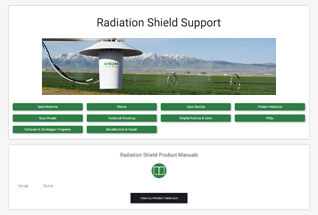 Product support information for aspirated radiation shields.