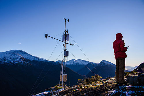 Apogee Net Radiometer being used in Alaska for avalanche forecasting, Sneittisham site. Photo credit: Alaska Electic Light & Power