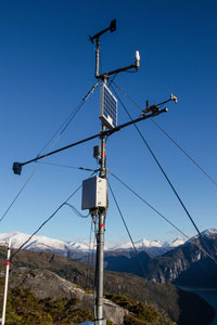 Apogee Net Radiometer being used in Alaska for avalanche forecasting Sneittisham site. Photo credit: Alaska Electic Light & Power