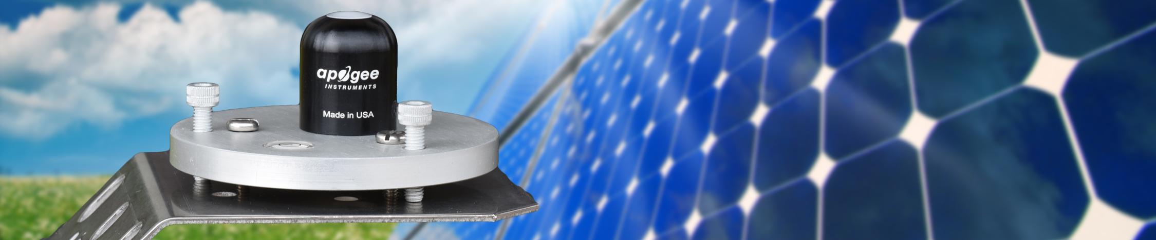 Apogee Pyranometers monitor PV efficiency