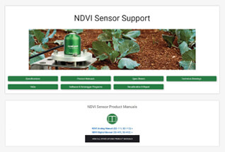 Product support information for NDVI sensors.